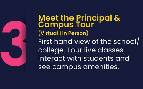 Meet principle and campus tour while doing roots admission